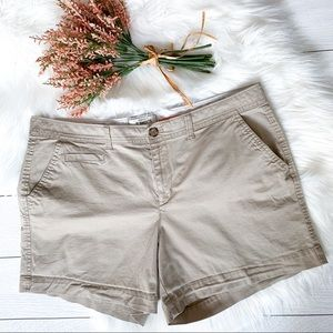 "Old Navy ""Perfect"" 5 inch khaki shorts"